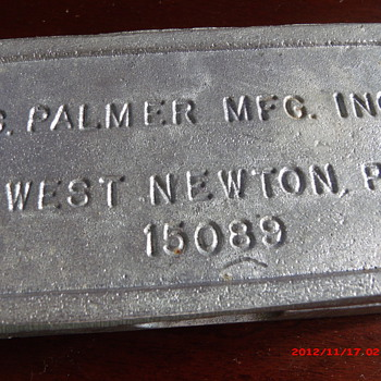 Vintage Palmer 853 In-Line Lead Sinker Mold - Fishing