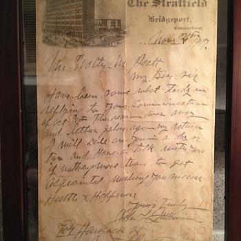 John L. Sullivan handwritten/signed letter