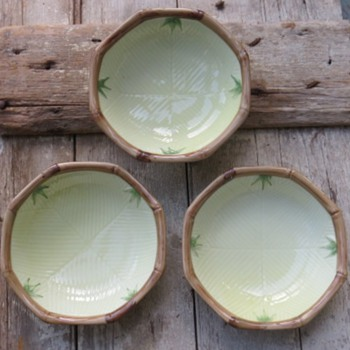 Asian Bamboo Bowls - Art Pottery
