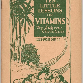 1922 - Ten Little Lessons on Vitamins - Paper