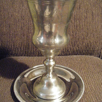 Christian Chalice hammered Sterling Silver from Portugal