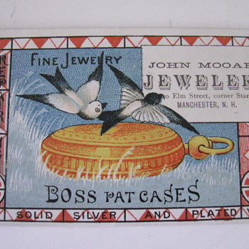 1880 Boss Watch Case Trade Card - Advertising