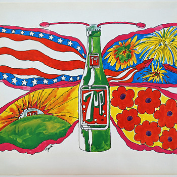 Set of 4 UnCola posters in mint condition, 1969