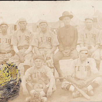 Old Baseball Team on a Vintage Postcard - Baseball