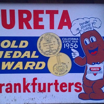 1956 Pureta Frankfurters Gold Medal Award California State Fair