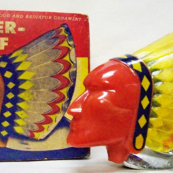 Super Chief Illuminated Hood Ornament With Box  - Art Deco