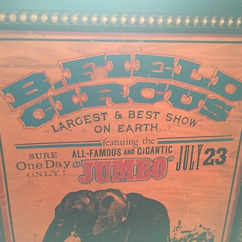 Vintage wooden circus sign / poster