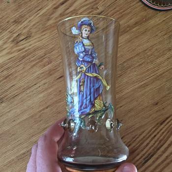 Moser drinking glasses