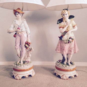 Italian porcelain table lamps