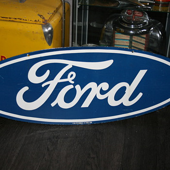 Ford porcelain sign