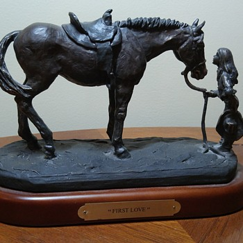 "Horse statue ""First Love"" by Montana Silversmiths - Animals"