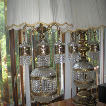 4 foot crystal chandelier lamps - Lamps