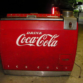 old coca cola cooler