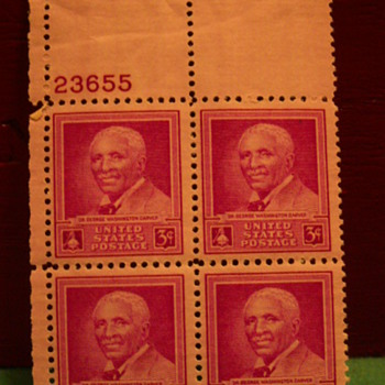 1948 Dr. George Washington Carver 3¢ Stamps