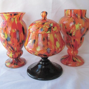 Fun Showing New Groups Of Art Deco Ruckl Glass In My Collection - Art Glass