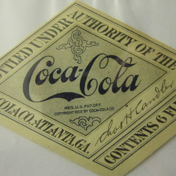 Found a bunch of these 1917-19 Coca-cola bottle labels on eBay - Coca-Cola
