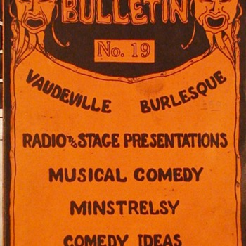 McNally's Bulletin No. 19  Vaudeville  Burlesque 1934 - Paper