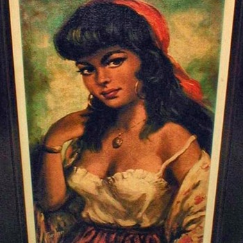 1960&#039;s Gypsy Girl print by Torino