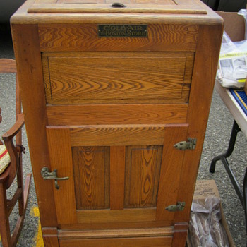 """Coldair"" Wooden Icebox from ""The Boston Store"" - Kitchen"