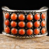 Old Pawn Natural Coral Row Cuff