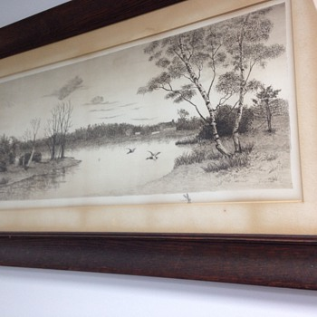 Frame Picture of Home on the Lake.  - Visual Art