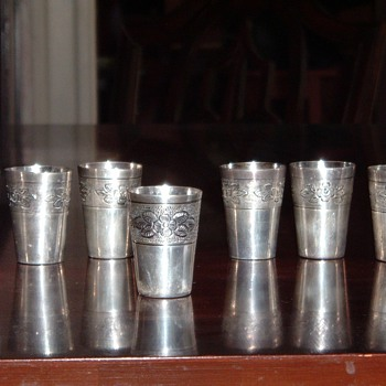 Sterling Mexican Shot Glasses