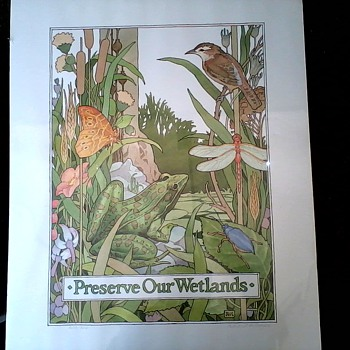 """Preserve Our Wetlands "" Signed and Numbered Prints /Robert M. Moyer / Circa 20th Century"