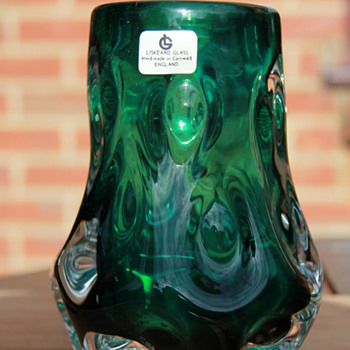 Nice Liskeard Nobbly vase - Art Glass