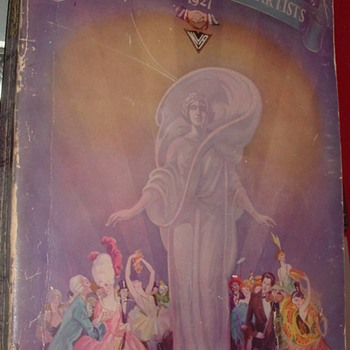 Vaudeville Artists Directory 1927 - Books