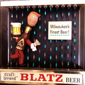 1964 Blatz Beer Motion Sign - Breweriana
