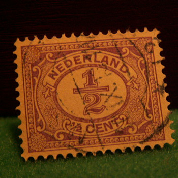 Vintage Nederlands 1/2 Cent Stamp ~ Used