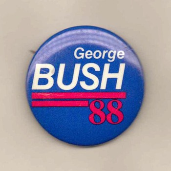 George Bush '88 - Pinback - Medals Pins and Badges