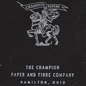 Playing Cards - Champion Paper, Hamilton Ohio, circa 1900-1950s?