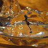 Baccarat Ice Skater on Pond Sculpture
