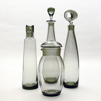 CHRISTER, TEARDROP, SKIPPER & ARISTOKRAT, Per Lütken (Holmegaard, 1950s and 1960s) - Art Glass