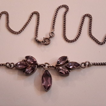 1930s  amethyst necklace  - Fine Jewelry