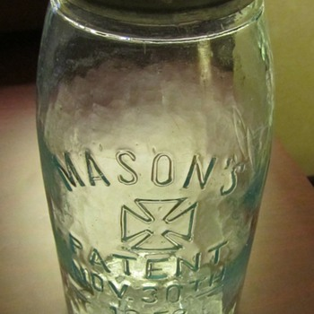 Mason Jar Iron Cross 1800's - Bottles