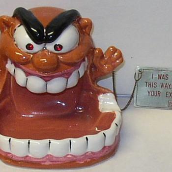 Rat Fink Weirdo Art Style Psycho-Ceramics Ash Tray