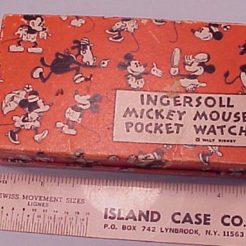 ATT. Ollie, Late 1933-37 Mickey Mouse Pocket Watch box - Pocket Watches
