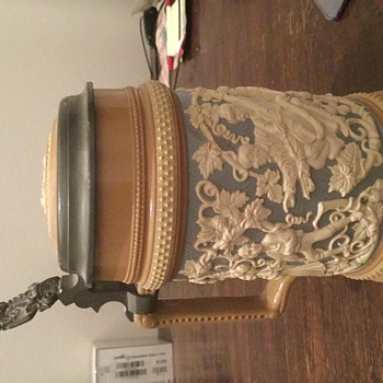 Old Family Stein  - Art Pottery