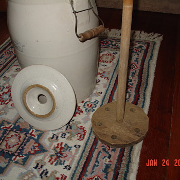 Antique Butter Churn Crock - Kitchen