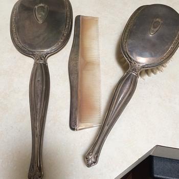 Vintage Sterling Silver Vanity Set