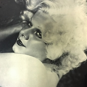 """Vintage MGM 1934 JEAN HARLOW  Actors Photograph From """"Dinner At Eight """""""