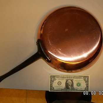 "Mauviel 1830 Copper Saute Pan 2.5mm ~ 11.3"" X 2.5"" - Kitchen"