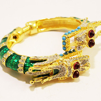 "Kenneth Jay Lane ""Year of the Dragon"" Bangle - Costume Jewelry"