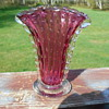 Art Glass Vase with Controlled Bubbles