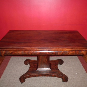 Antique Fold-Over Table - Furniture