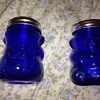 blue glass honey bears