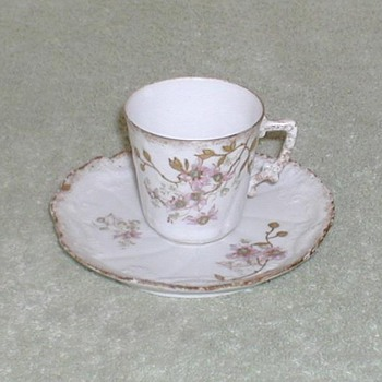 Limoges China Cup & Saucer  - China and Dinnerware