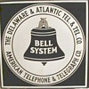 Delaware &amp; Atlantic Tel. &amp; Tel. Co. Porcelain Sign